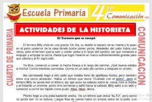 Modelo de la Ficha de Actividades de La Historieta para Cuarto de Primaria