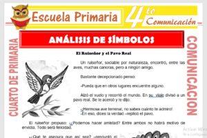 Ficha de Análisis de Simbolos para Cuarto de Primaria