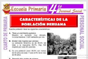 Ficha de Características de la Población Peruana para Cuarto de Primaria