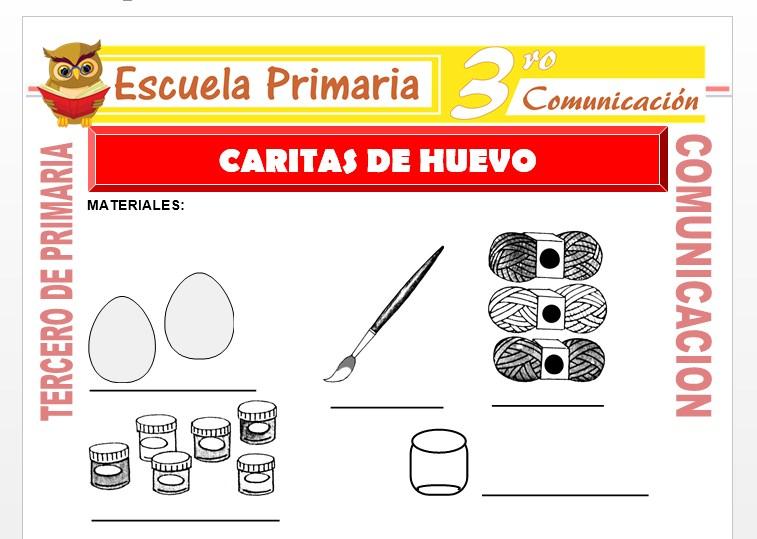 Ficha de Caritas de Huevo para Tercero de Primaria