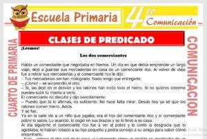 Ficha de Clases de Predicado para Cuarto de Primaria
