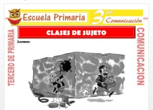 Ficha de Clases de Sujeto para Tercero de Primaria