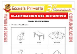 Ficha de Clasificacion del Sustantivo para Tercero de Primaria