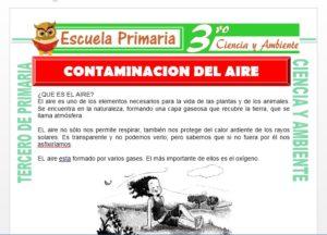 Ficha de Como se Contamina el Aire para Tercero de Primaria
