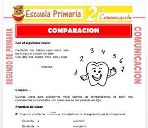 Ficha de Comparación para Segundo de Primaria