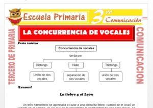 Ficha de Concurrencia de Vocales para Tercero de Primaria