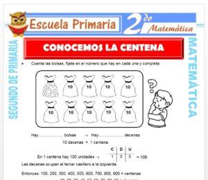 Ficha de Conocemos la Centena para Segundo de Primaria