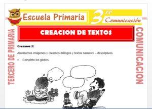 Ficha de Creación de Textos para Tercero de Primaria