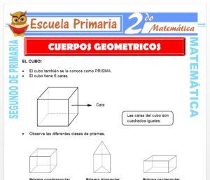Ficha de Cuerpos Geométricos para Segundo de Primaria