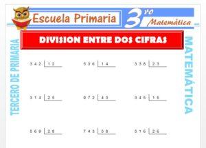 Ficha de División entre dos cifras para Tercero de Primaria