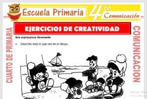 Ficha de Ejercicios de Creatividad para Cuarto de Primaria