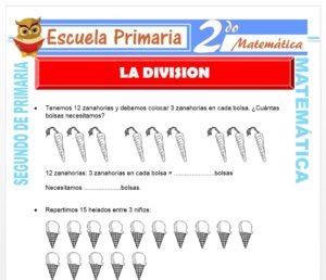 Ficha de Ejercicios de División para Segundo de Primaria