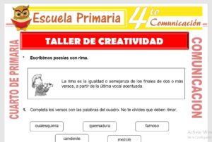 Ficha de Ejercicios del Taller de Creatividad para Cuarto de Primaria