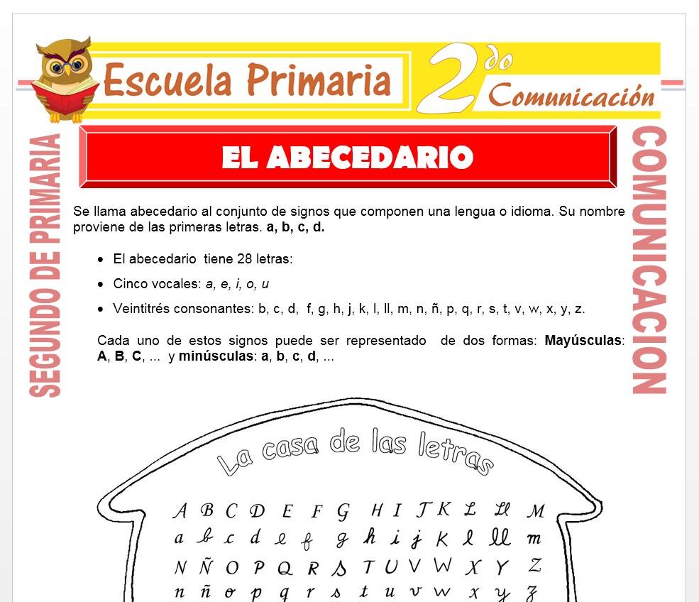 Ficha de El abecedario para Segundo de Primaria