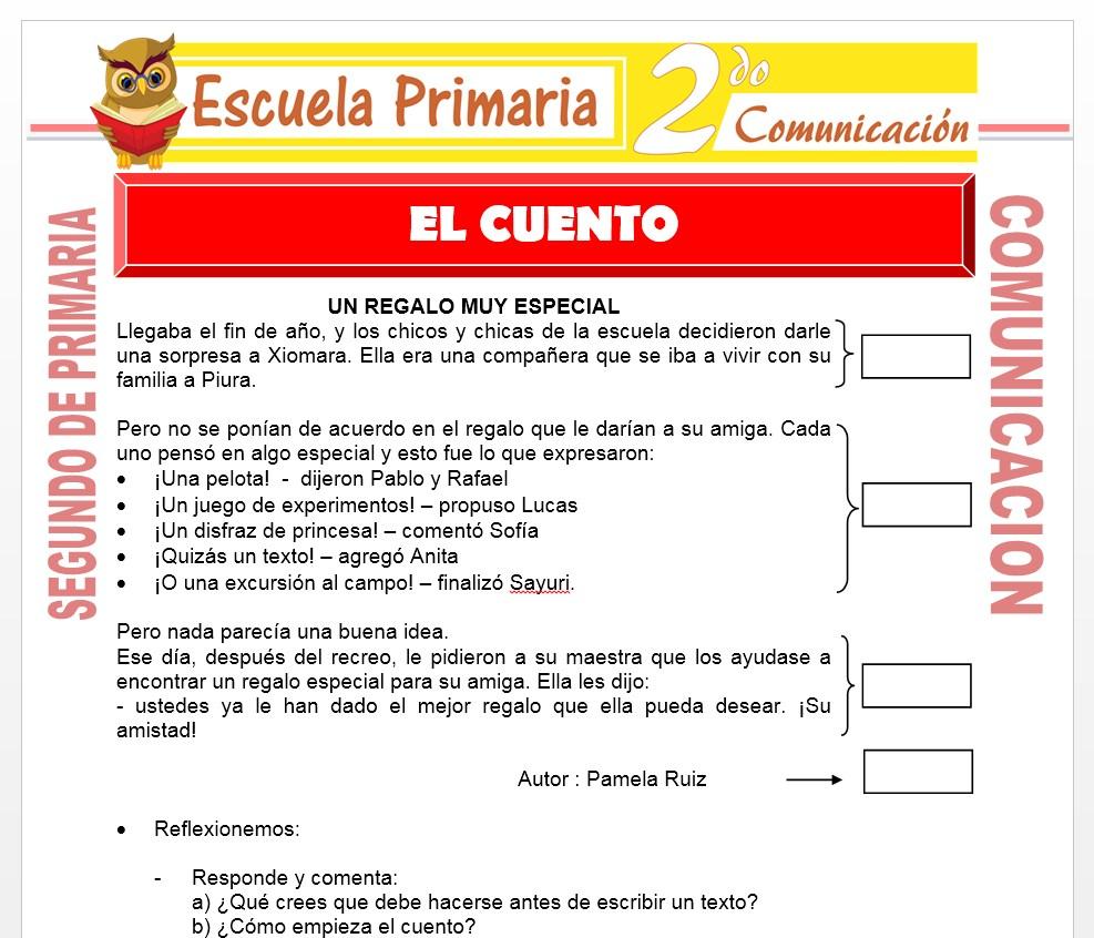 Ficha de El Cuento para Segundo de Primaria