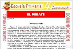 Ficha de El Debate para Cuarto de Primaria