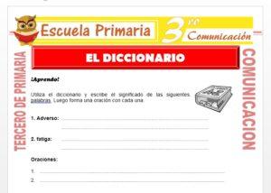 Ficha de El Diccionario para Tercero de Primaria