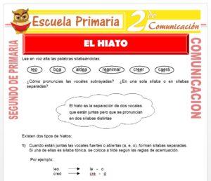 Ficha de El Hiato para Segundo de Primaria