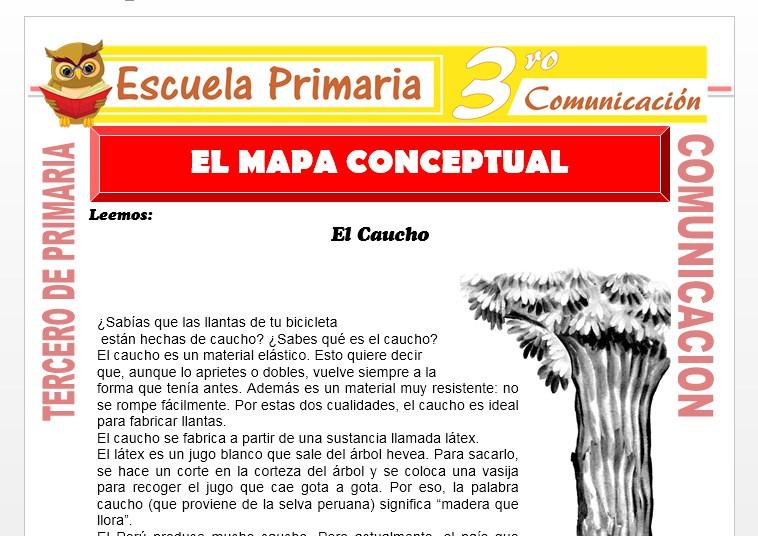 Ficha de El Mapa Conceptual para Tercero de Primaria