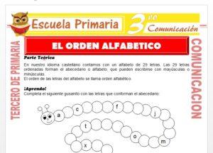 Ficha de El Orden Alfabetico para Tercero de Primaria