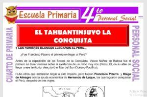 Ficha de El Tawantinsuyo la Conquista para Cuarto de Primaria
