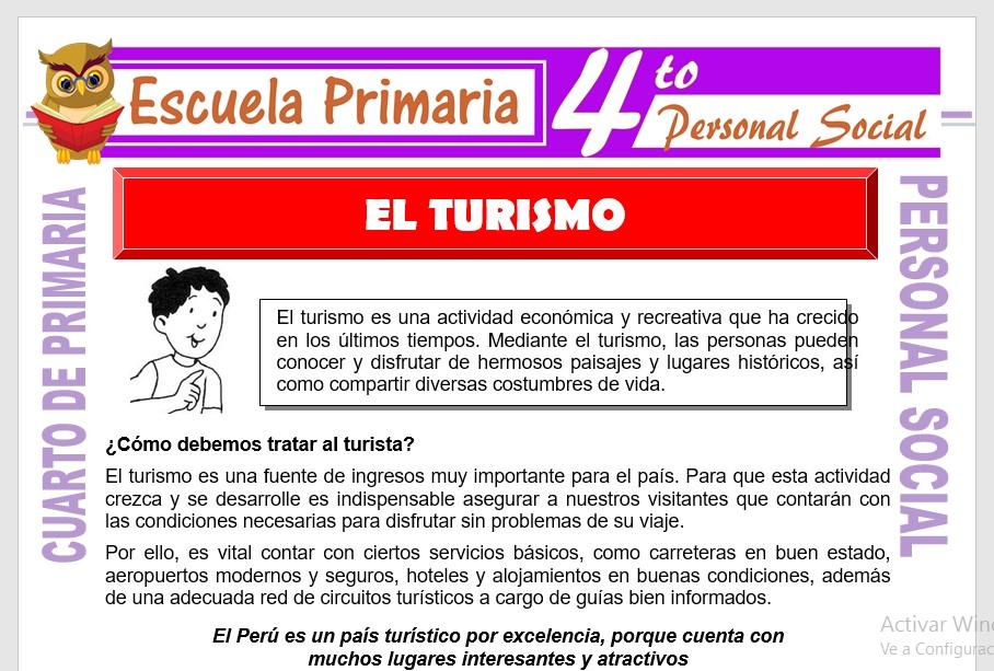 Ficha de El Turismo para Cuarto de Primaria