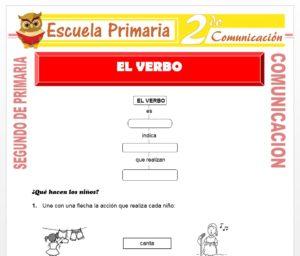 Ficha de El Verbo para Segundo de Primaria