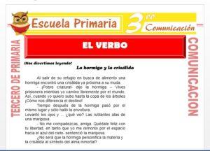 Ficha de El Verbo para Tercero de Primaria
