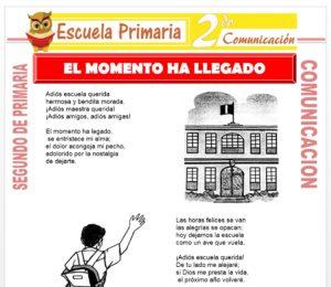 Ficha de El Momento Ha Llegado para Segundo de Primaria