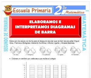 Ficha de Elaboramos Diagramas de Barra para Segundo de Primaria