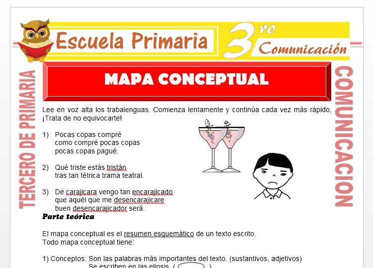 Ficha de Elaboramos un Mapa Conceptual para Tercero de Primaria