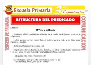 Ficha de Estructura del Predicado para Tercero de Primaria