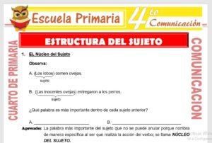 Ficha de Estructura del Sujeto para Cuarto de Primaria