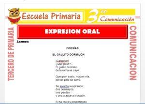 Ficha de Expresión Oral para Tercero de Primaria