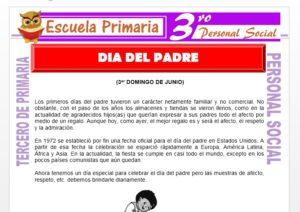 Ficha de Feliz Día del Padre para Tercero de Primaria