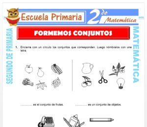 Ficha de Formemos Conjuntos para Segundo de Primaria
