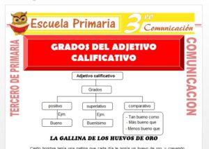 Grados del Adjetivo para Tercero de Primaria