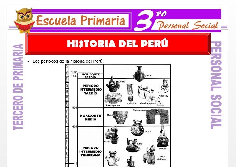 Ficha de Historia del Perú para Tercero de Primaria