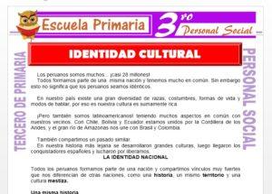 Ficha de Identidad Cultural para Tercero de Primaria