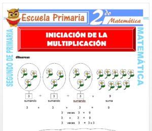 Ficha de Iniciación de la Multiplicación para Segundo de Primaria