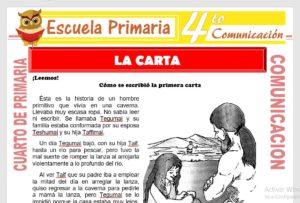 Ficha de La Carta para Cuarto de Primaria