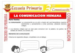 Comunicación Humana para Tercero de Primaria