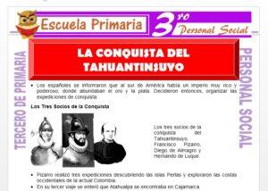 Ficha de La Conquista del Tahuantinsuyo para Tercero de Primaria