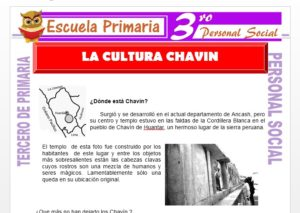 Ficha de La Cultura Chavín para Tercero de Primaria