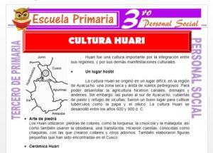 Ficha de La Cultura Huari para Tercero de Primaria