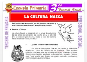 Ficha de La Cultura Nazca para Tercero de Primaria