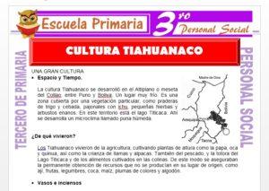 Ficha de La Cultura Tiahuanaco para Tercero de Primaria