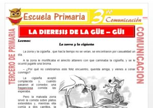 Ficha de La Dieresis de la Gue - Gui para Tercero de Primaria