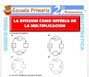 Ficha de La División para Segundo de Primaria