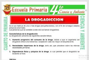 Ficha de La Drogadicción para Cuarto de Primaria
